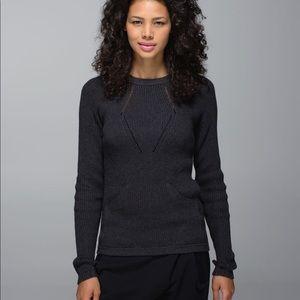 Lululemon The Sweater The Better Heathered black